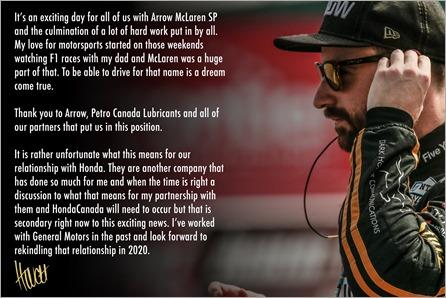 Hinch Statement