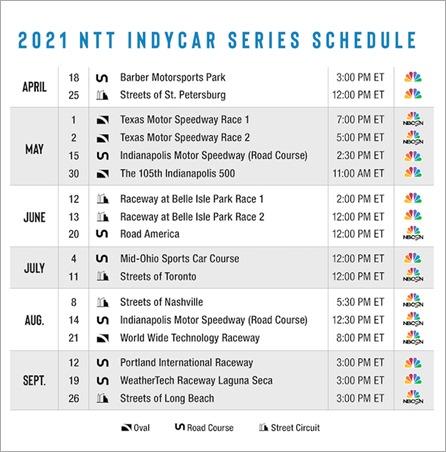 2021 TV Schedule
